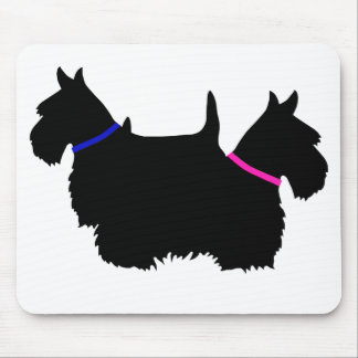 Scottish Terrier black silhouette, Scotland dog Mouse Pad