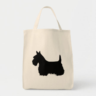 Scottish Terrier black, silhouette Tote Bag