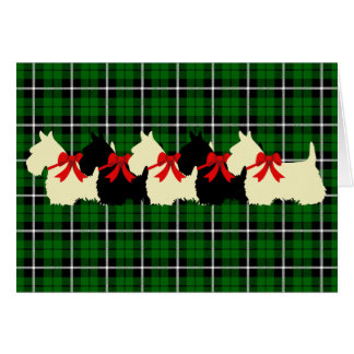 Scottish Terrier black/wheaten silhouette blank Card
