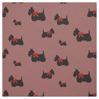 Scottish Terrier black/wheaten silhouette Fabric