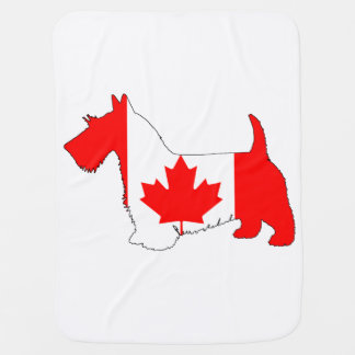 Scottish Terrier Canada Swaddle Blanket