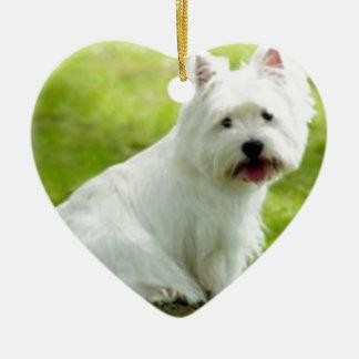 scottish terrier ceramic ornament