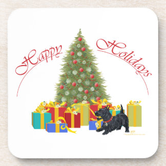 Scottish Terrier Christmas Coaster