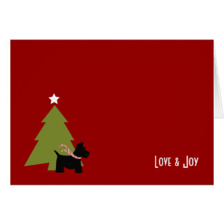 Scottish Terrier Christmas Holiday Card