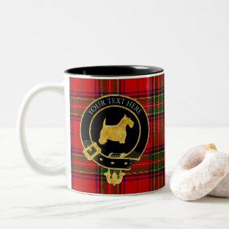 Scottish Terrier Clan Crest Tartan Two-Tone Coffee Mug