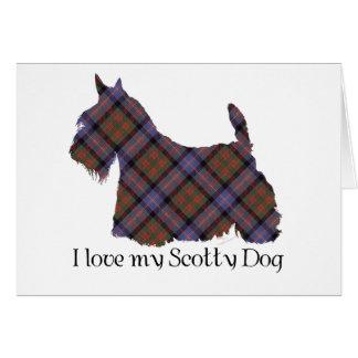 Scottish Terrier Cochran Tartan Greeting Card