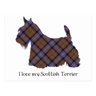 Scottish Terrier Cochran Tartan Postcard