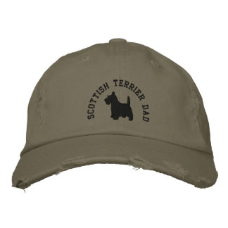 Scottish Terrier Dad Scottie Dog Embroidered Hat