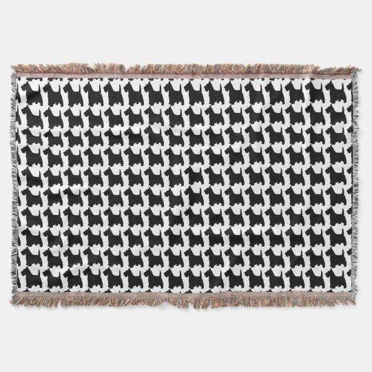 Scottish Terrier Dog Animal Pattern Throw Blanket