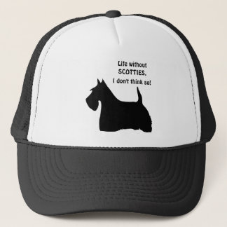 Scottish Terrier dog black silhouette  fun hat cap