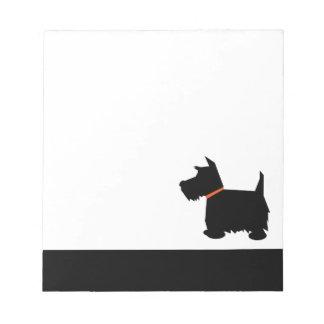 Scottish Terrier dog black silhouette notepad