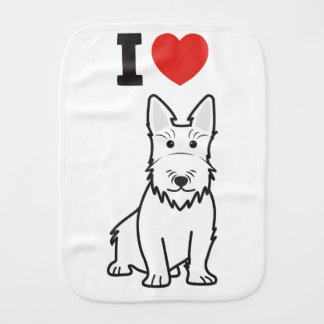 Scottish Terrier Dog Cartoon Burp Cloths