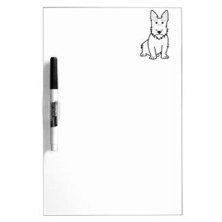 Scottish Terrier Dog Cartoon Dry-Erase Whiteboards