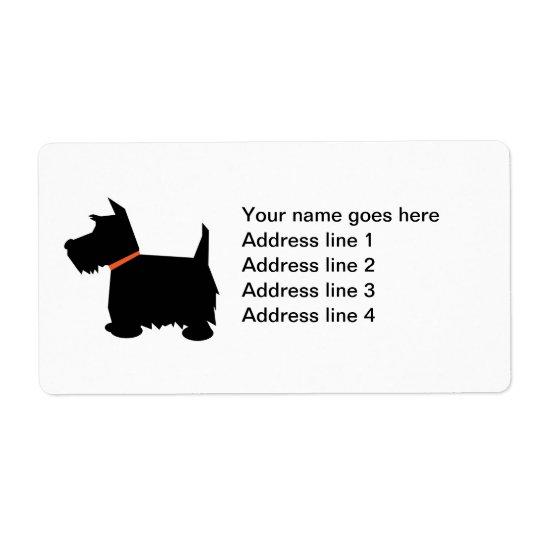 Scottish Terrier dog custom address labels