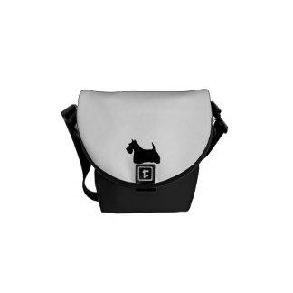 Scottish Terrier dog cute black silhouette, gift Commuter Bag
