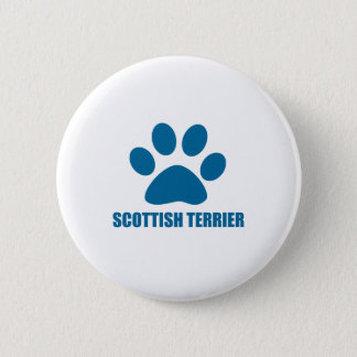 SCOTTISH TERRIER DOG DESIGNS 2 INCH ROUND BUTTON