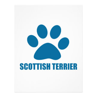 SCOTTISH TERRIER DOG DESIGNS LETTERHEAD