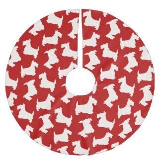 Scottish Terrier Dog Pattern Brushed Polyester Tree Skirt