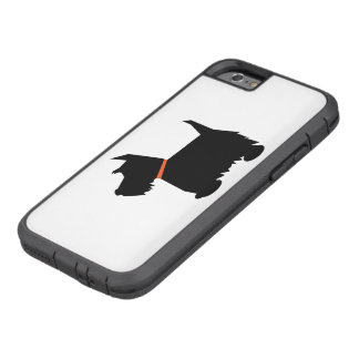 Scottish terrier dog, scottie black silhouette tough xtreme iPhone 6 case