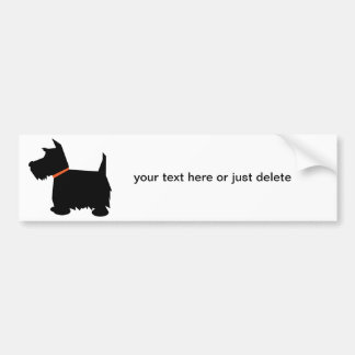 Scottish Terrier dog silhouette bumper sticker