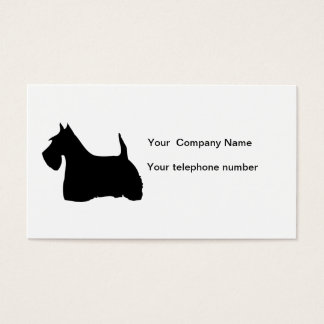 Scottish Terrier dog silhouette business card