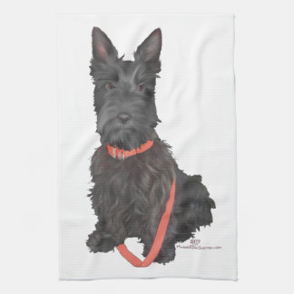 Scottish Terrier Flourish Kitchen Towel