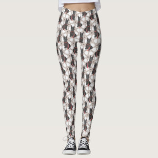Scottish Terrier Flourish Leggings