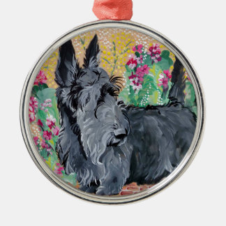 Scottish Terrier Garden Metal Ornament