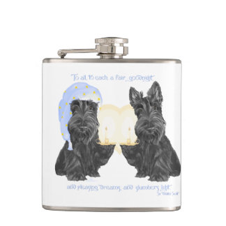 Scottish Terrier Goodnight Hip Flask