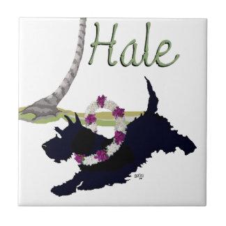 Scottish Terrier Hawaiian Design Tile