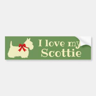 Scottish Terrier, I love my Scottie/wheaten/bow Bumper Sticker
