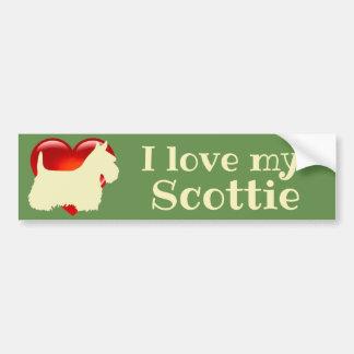Scottish Terrier, I love my Scottie/wheaten/heart Bumper Sticker