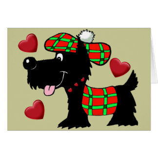 Scottish Terrier In Plaid apparel and gifts Card