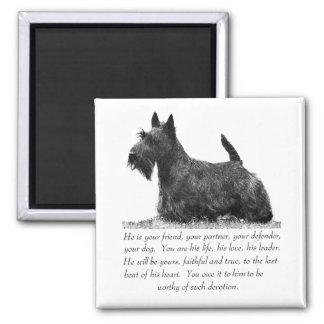 Scottish Terrier Keepsake - MALE Dog Magnet