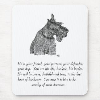 Scottish Terrier Keepsake - MALE Mouse Pad