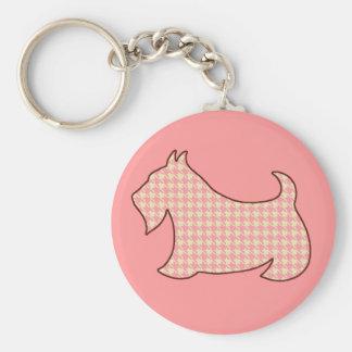 Scottish Terrier Keyring Basic Round Button Keychain