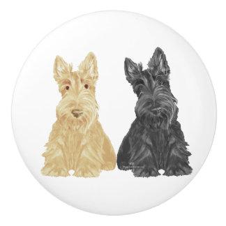 Scottish Terrier Knobs Ceramic Knob