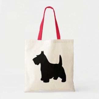 Scottish Terrier Little Black Scottie Dog Tote Bag