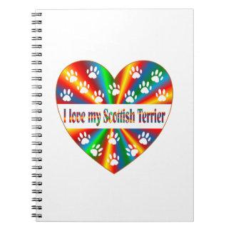 Scottish Terrier Love Note Book