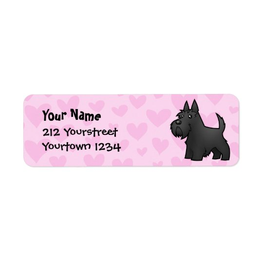 Scottish Terrier Love Return Address Label
