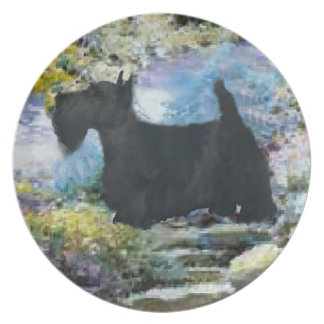 Scottish Terrier Lovers Art Party Plate