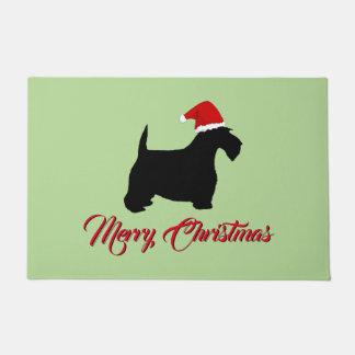 Scottish Terrier Merry Christmas Doormat