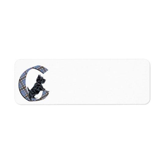 Scottish Terrier Monogram C Return Address Label