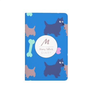 Scottish Terrier Monogram Journal Choose B Color 2
