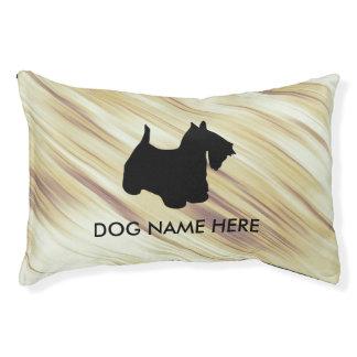 Scottish Terrier Monogram Pet Bed