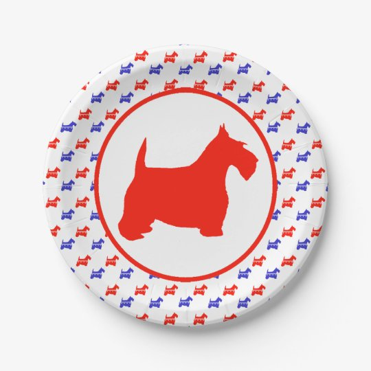 Scottish Terrier Party 7 Inch Paper Plate