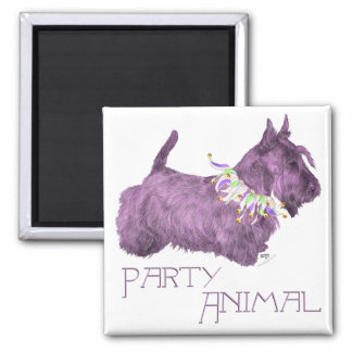 Scottish Terrier Party Animal Refrigerator Magnets