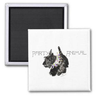 Scottish Terrier Party Animal Fridge Magnets