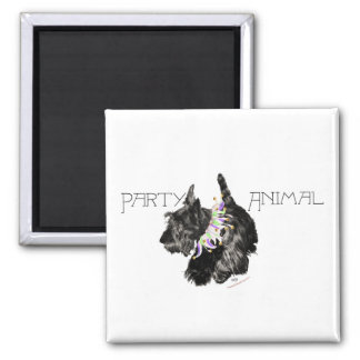 Scottish Terrier Party Animal Square Magnet
