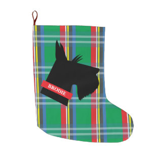Scottish Terrier Personalized Christmas Stocking